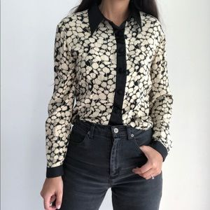 Vintage Susie Tompkins button down cropped blouse